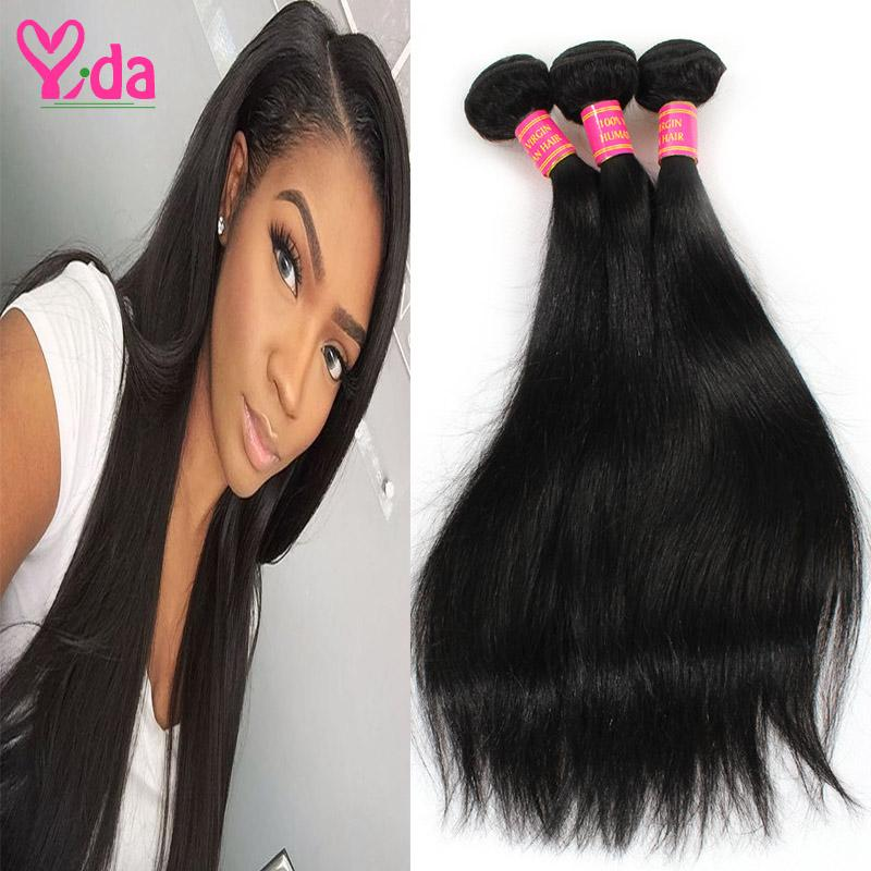 Peruvian Virgin Straight Hair Non Process 100 Percent Human Hair