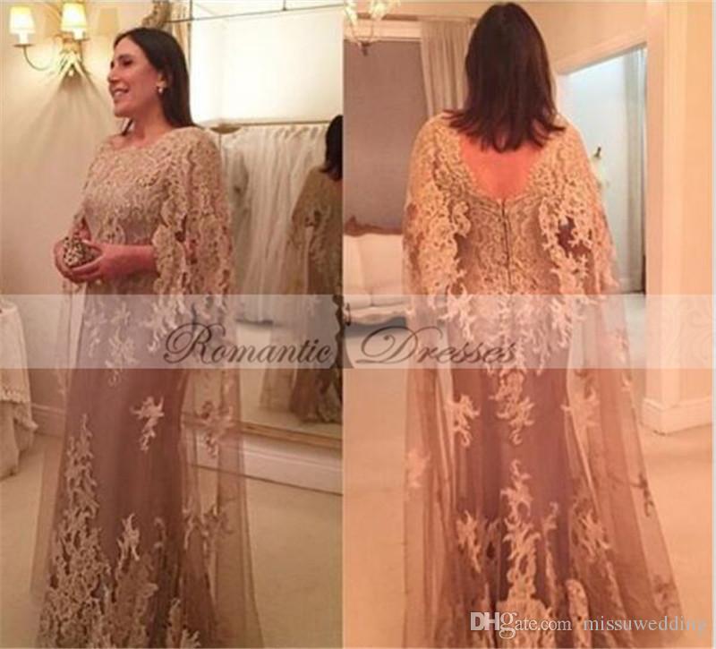 Cap Sleeves Plus Size Mother Of The Bride Evening Dresses Elegant