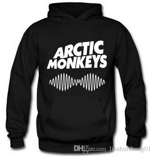 Arctic Monkeys Am Logo Soundwave Hooded Top Music Band Rock Pullover Hoody Hoodie Hood Sweat shirt Top