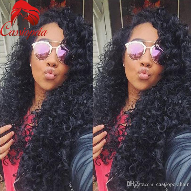 Brazilian Kinky Curly Lace Wigs Glueless Full Lace Curly Wigs For Black Women Brzailian Hair Full Lace Wigs For African American
