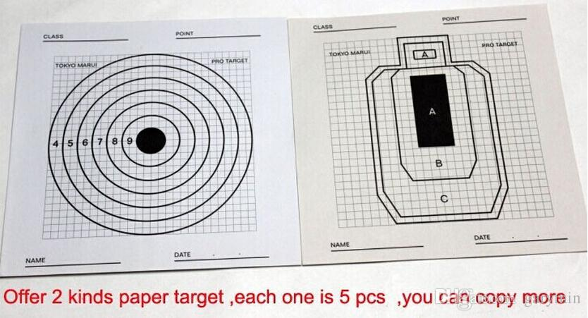 Страйкбол 10 листов бумаги игрушка стрельба для Aim BB Training Pro Target