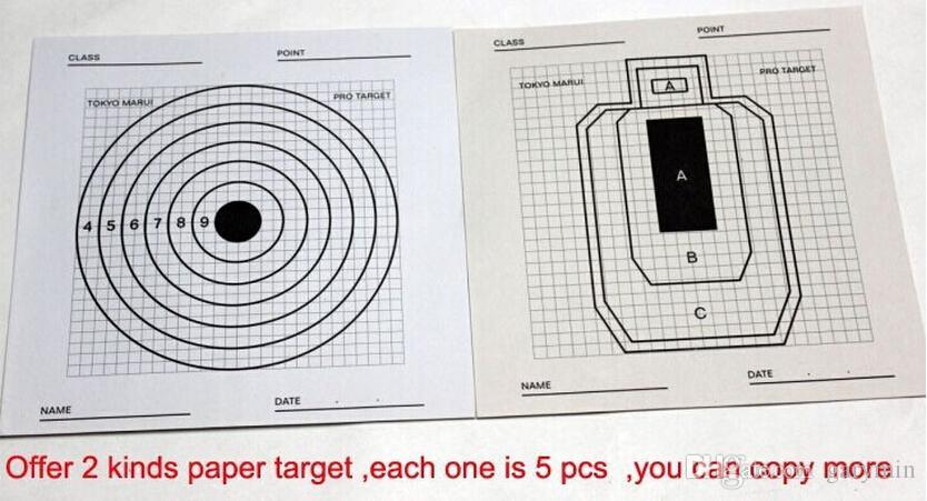 에어 소프트 10 시트 종이 장난감 목표 BB 훈련 Pro 대상에 대한 촬영