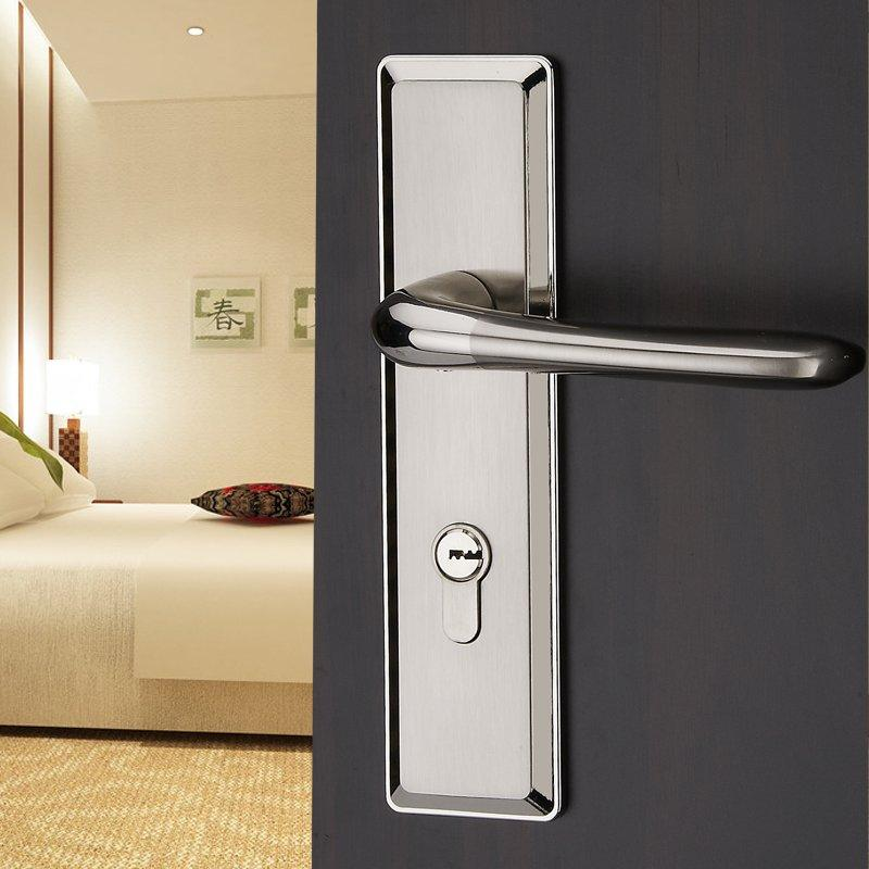 2018 the modern european style double tongue bedroom door lock door lock handle lock panel. Black Bedroom Furniture Sets. Home Design Ideas