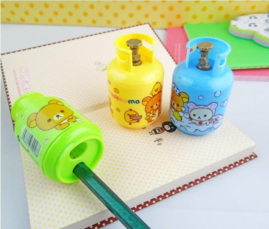 Kawaii Cancelleria Bombola gas Plastica Colore casuale Temperamatite Shool Forniture ufficio Cancelleria coreano Cancelleria carina