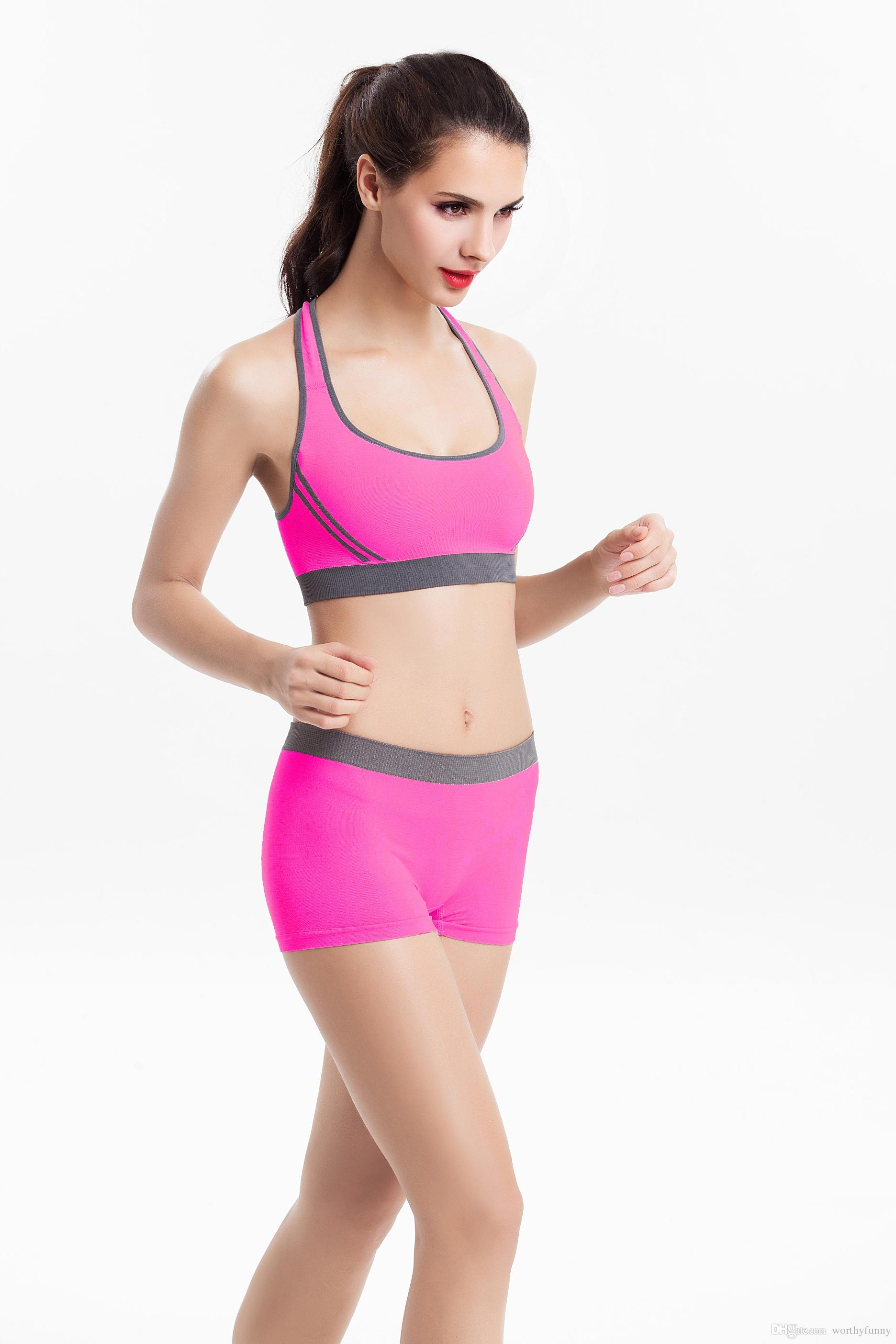 Women Sport Panties Suits Bra Top Set Suit Sportwear Sports Bra And  Underwear Yoga Set Fitness KL 05 UK 2019 From Worthyfunny f2ccc0a878