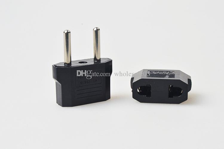 black USA US To EU Plug Adapter Travel Charger Adaptador Converter AC Power Electrical Plug Socket