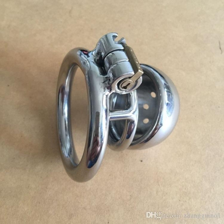 Cheap Wholesale - Hand-Polished Male Chastity Device Stainless Steel Chastity Belt Dildo Bondage Cock Chastity Penis Cage for Man