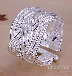 Anello in maglia di argento 925 le donne Anelli aperti Regalo di Natale Festa di matrimonio di buona qualità Fashion Design