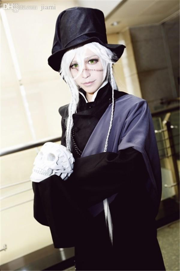 Wholesale Anime Black Butler Undertaker Cosplay Costume Funeral Full Set Any Size NEW The Best Costumes Male From Jiami