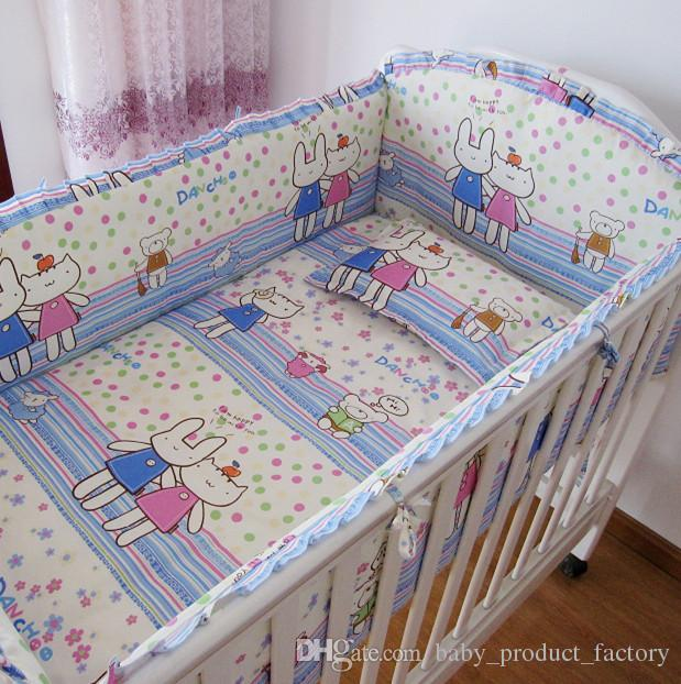 Promotion! Cartoon cot bedding baby cradle crib bedding,baby cot sets baby bed ,include4bumpers+sheet+pillowcase