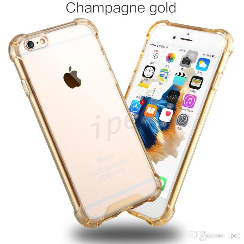 3f928d8666d Transparent TPU Acrylic Clear Cover Soft Colorful Shell Case Ultra Thin  Back Cover Colors For Iphone 6s Plus Galaxy S7 Edge 100 Opp Package Cell  Phone Case ...
