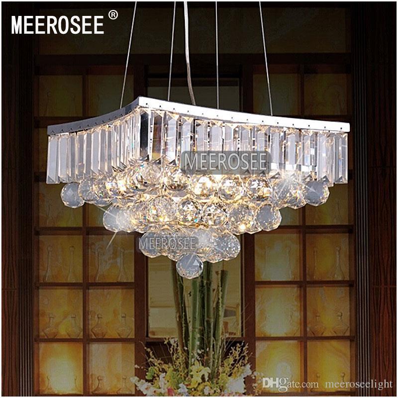 Lâmpada de pendente de cristal da forma quadrada / luz / dispositivo elétrico de iluminação para a sala de jantar, luz de suspensão de cristal MD8795
