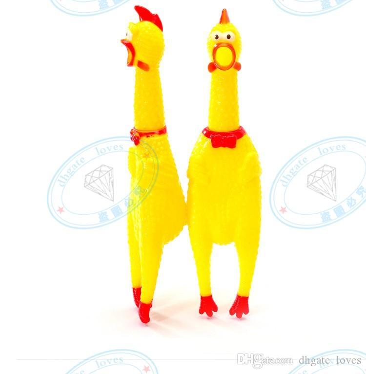 / forma sveglia del pollo di colore giallo suono del giocattolo del gatto del cane non-gomma chewing i giocattoli di masticazione di trasporto di goccia Tempo di consegna veloce