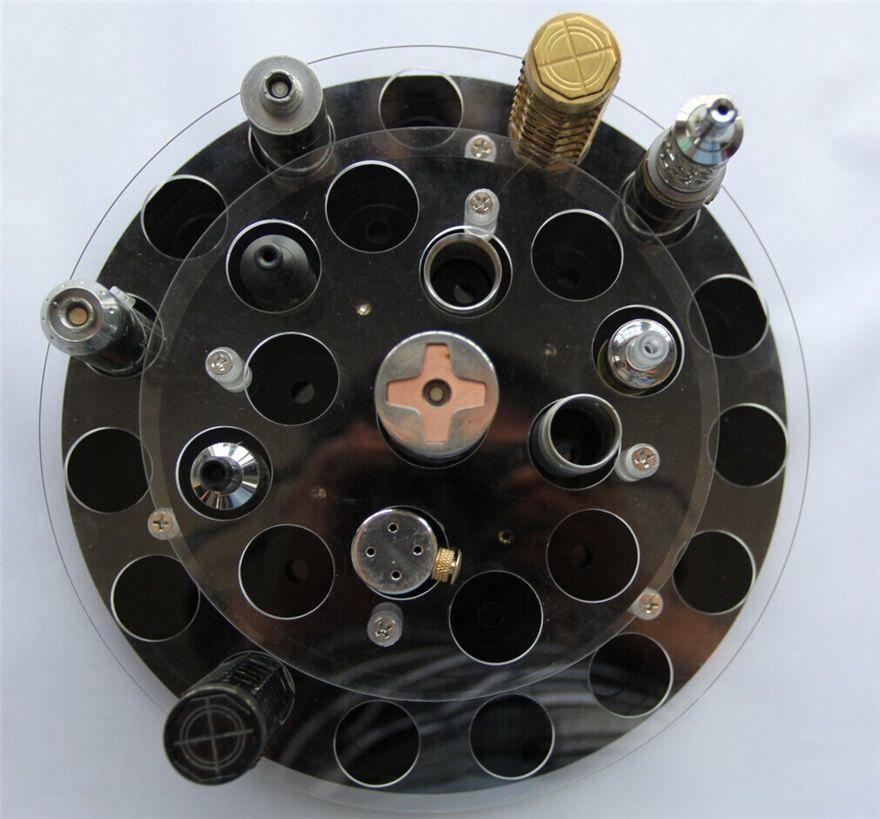 E Supporti vassoi Cig 27 Supporti acrilico trasparente a doppio strato RDA RBA Serbatoi atomici Kit di batterie modellini meccanici