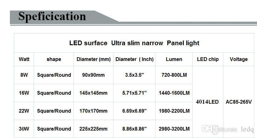 Surface Mounted LED Light Panel Ceiling Lamp 8W 16W 22W 30W Round Down Lights Lampara for Bedroom Hallway Office Hotel Lighting Decoration