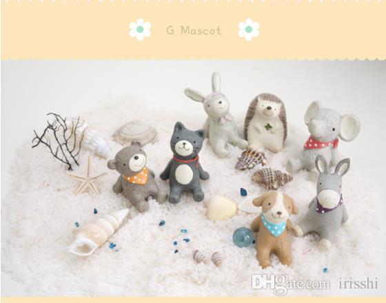Творческие подарки предметы интерьера посмотрите на небо мелких животных микро-пейзаж реквизит Закка украшения смолы ремесла могут быть использованы в качестве реквизита