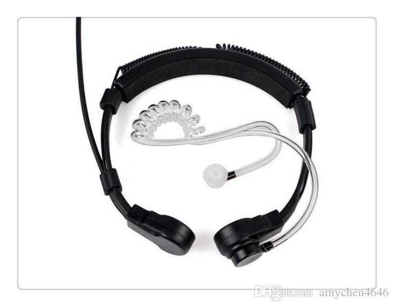 Intercomunicador Ptt Throat Mic Covert Acoustic Tube Earpiece Headset for Yaesu Vertex Vx-2r 3r Ft-50r Ft-60r 3.5mm 1 Pin Radios