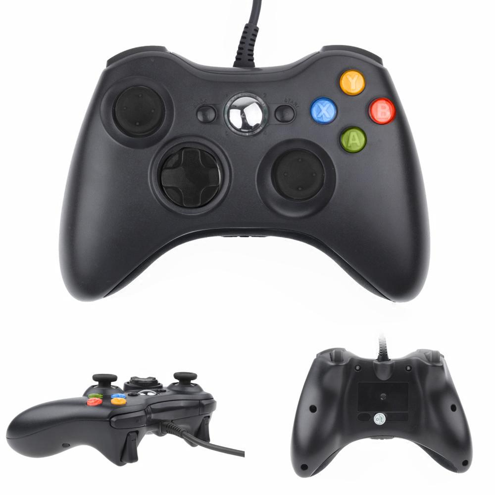 Usb Wired Joypad Gamepad Black Controller For Xbox 360 Joystick For ...