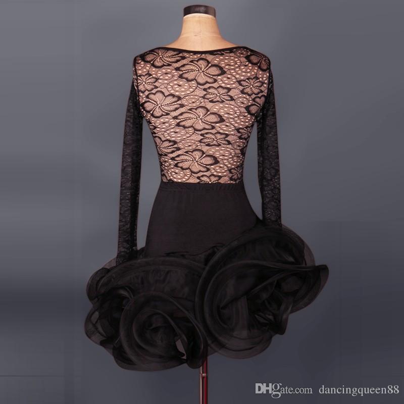 Custom nuovo arrivo latino ballo dress donna lady abbigliamento la danza costumi di scena da ballo nappa vestito da ballo le donne discoteca