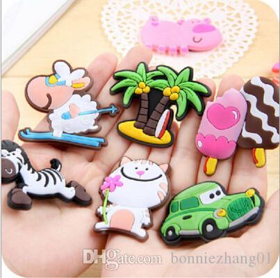 /  Cute Cartoon Animal aimants pour réfrigérateur autocollant de tableau blanc gel de silicium aimants pour réfrigérateur cadeau enfants