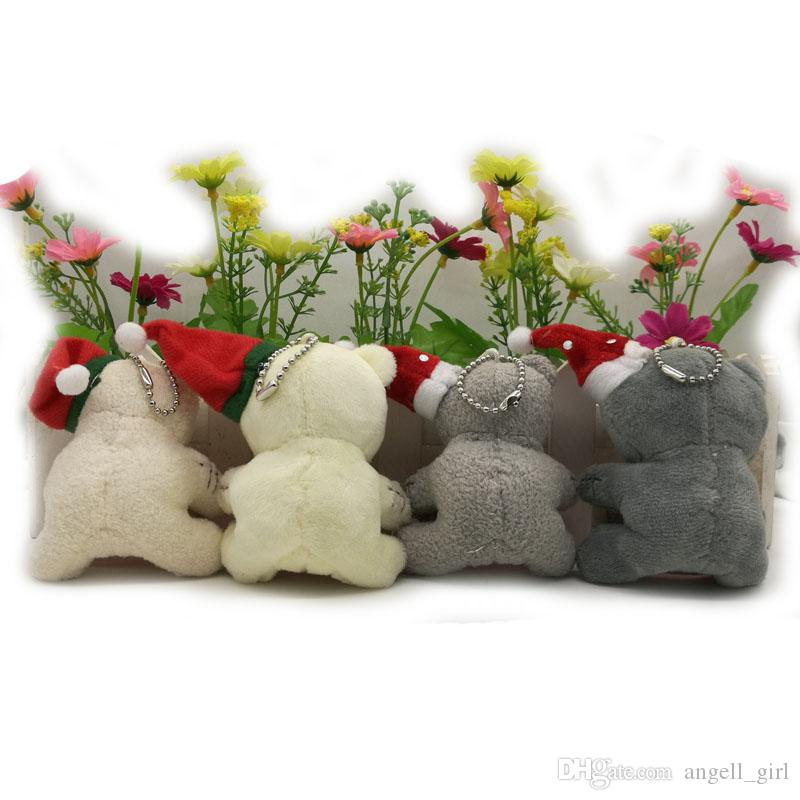 7.5cm 8.5cm Christmas Stuffed plush Toys teddy bear with someone special, soft toys for cartoon bouquets