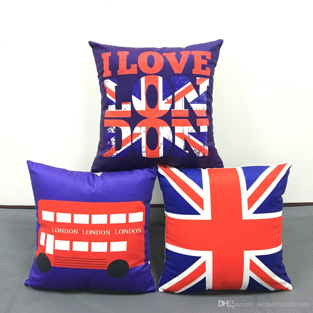 british vintage style cushion cover i love london bus union jack uk rh dhgate com
