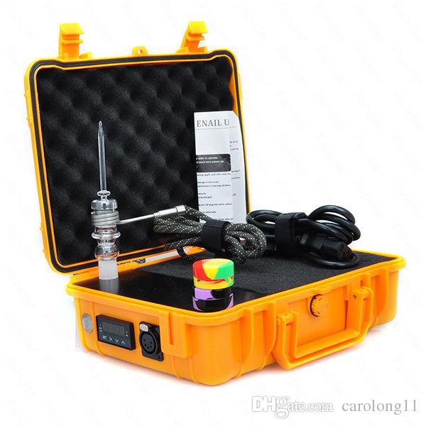 Yeni Pelic Kuvars Tırnak Elektrikli Dab Nail Komple Kiti withTemperature Denetleyicisi için 100 w Rig Yağ Cam Bongs su borusu