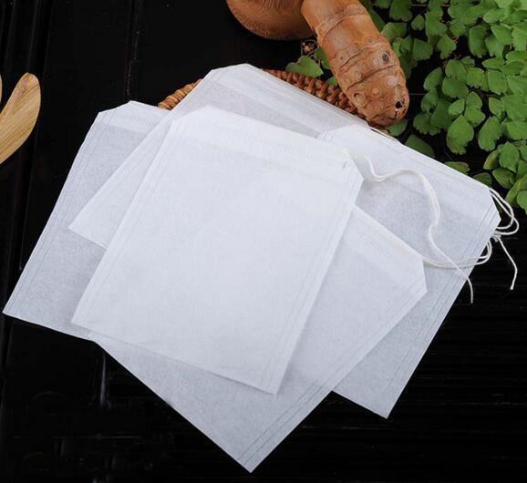 2017 пустые Drawstring чайные пакетики тепла печать фильтровальная бумага трава сыпучих чайные пакетики Пакетики упаковка горячие 1000 шт. / лот