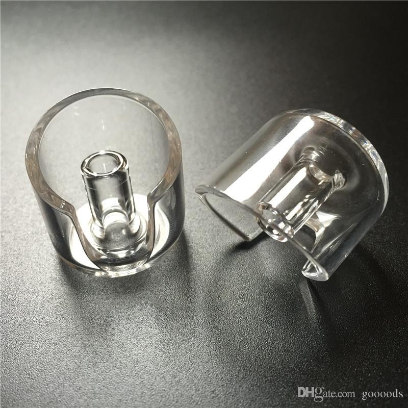 quartz carb cap dabber with 2mm thick big air wholes clear banger carb cap for OD <= 20mm domeless quartz nail