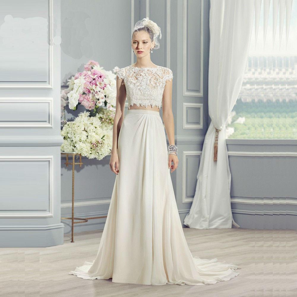 Discount sg231 lovely beach two pieces wedding dresses chiffon see larger image ombrellifo Image collections