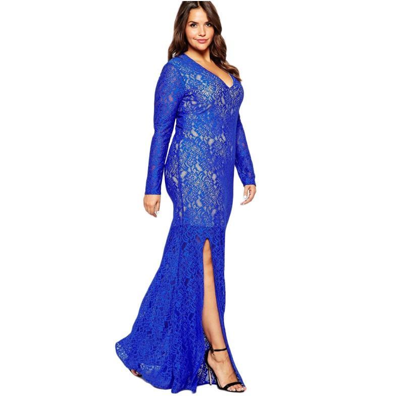 c9460b7a4836f Black Plus Size Women Muslim Clothing 2016 Spring Autumn New Fashion Long  Sleeve V Neck Ruffles Floor Length Long Party Dresses 3XL 8XL Corset Dress  Sun ...