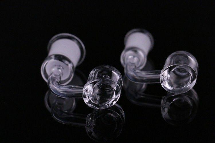 물 담뱃대 4mm 두꺼운 클럽 쿼츠 Banger 돔없는 손톱 18mm 남성 여성. DAB 조작 유리 봉에 100 % 진짜