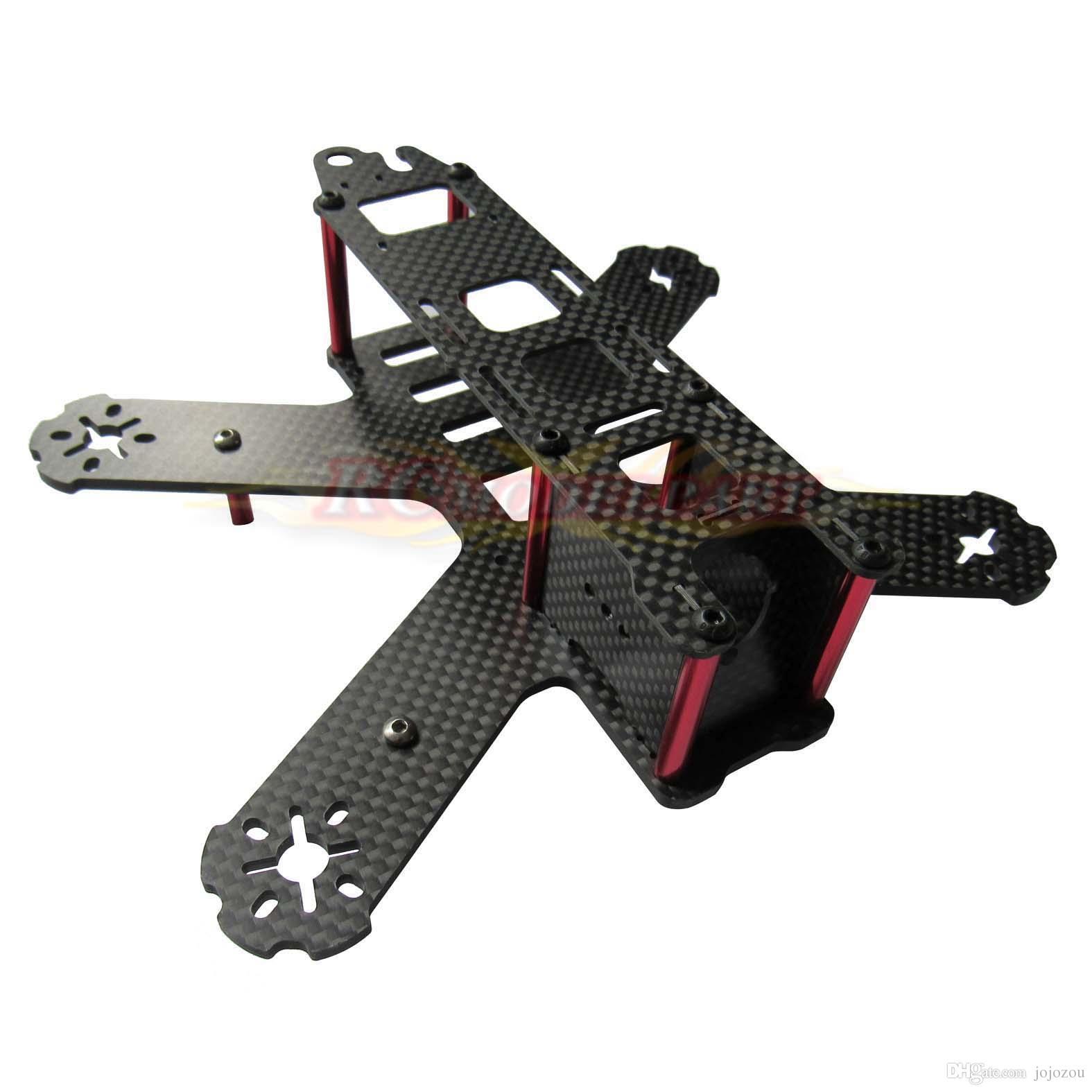 3K Carbon Fiber QAV210 Mini FPV Racing Quadcopter Drone Frame Kit ...