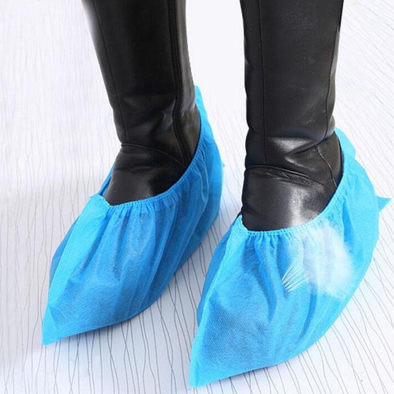 Blue Disposable Shoe Covers