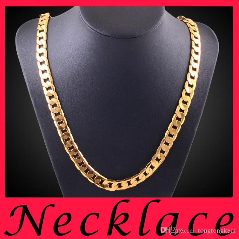 2018 Fashion Costume Jewelry 18k Gold Statement Mens Necklaces Gold