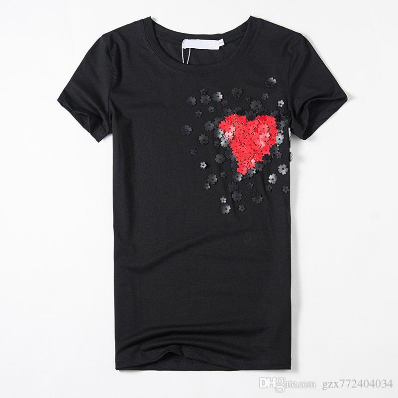 9da1af4a2b8 2016 New T-shirt Women Tops Tees Women Show Thin Applique T Shirt ...