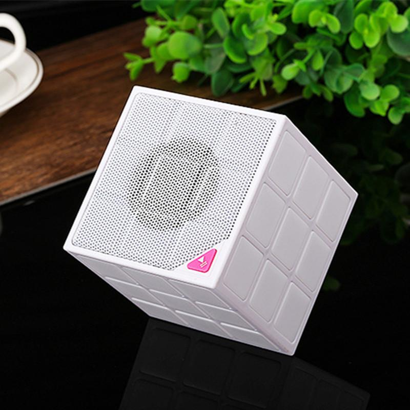 Magic Cube Design Colorful 36 LED Flash Bluetooth Mini Speaker Wireless Portable Super Bass Sound Subwoofer Handsfree for iPhone Tablet PC