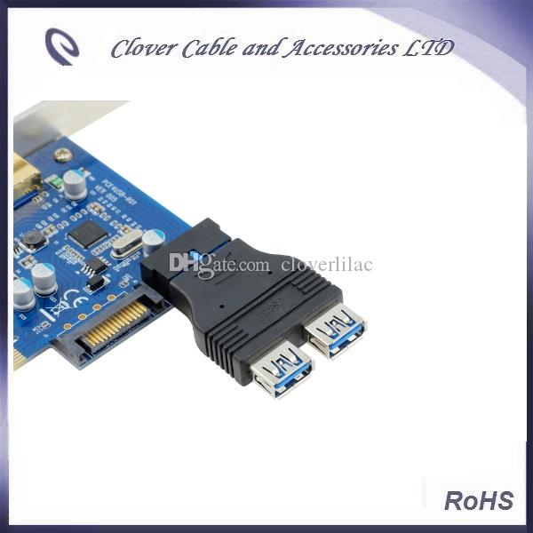 of USB 3.0 motherboard 20P Female To Double Female USB3.0 Adapter