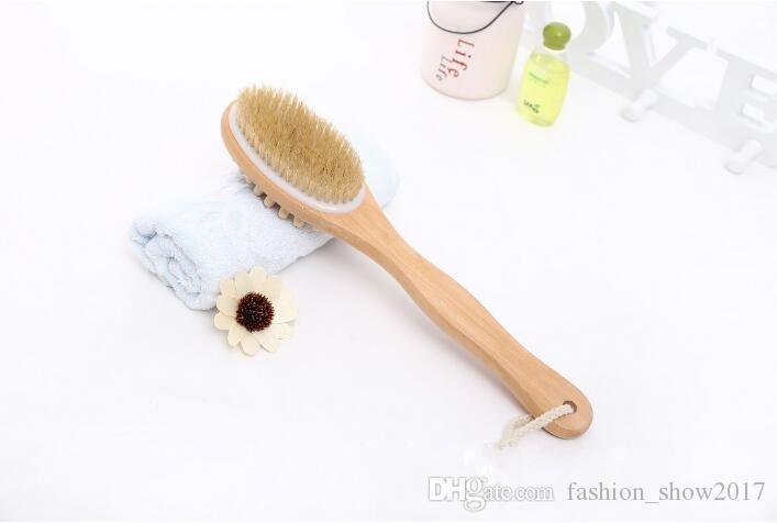2-in-1 Sided Natural Bristle Body Brush فرشاة الوجهين للغسيل والتدليك