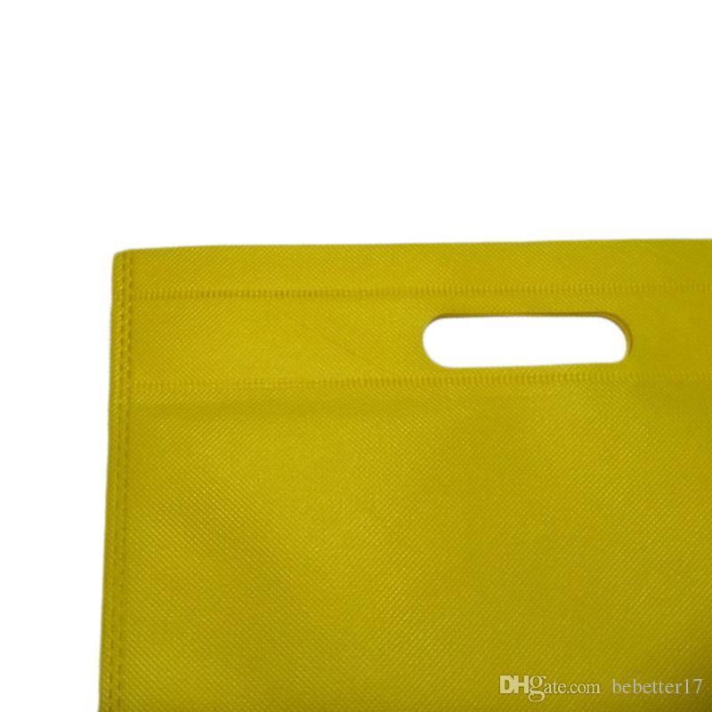 New 30x40cm Reusable Shopping Bag Non-Woven Fabric Bags Folding Shopping Bag For Gift/shoes/Chrismas Grocery Bags Shop Wholesale