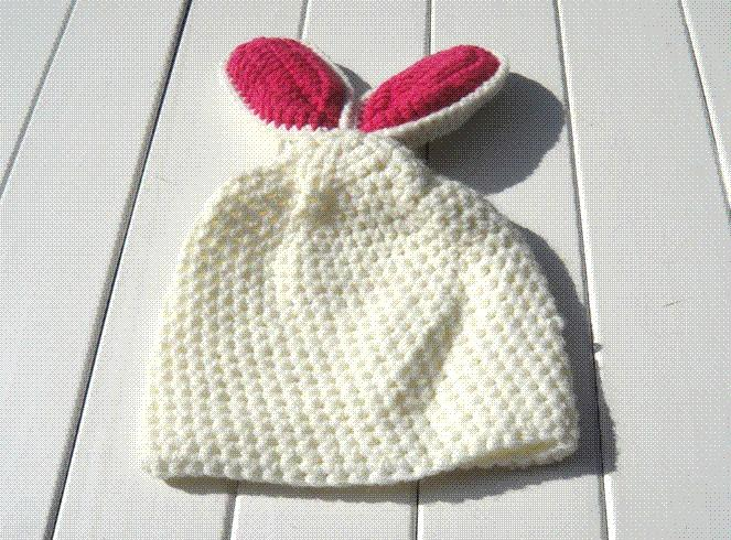 2018 Rabbit Design Children Warm Winter Baby Caps Knitting Wool ...