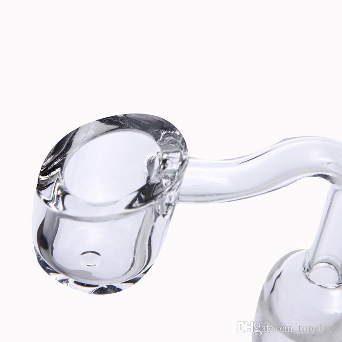 Retail Hottest 4mm Thick Quartz Club Banger Nail with 14mm 18mm male/female Polished Clear Joint for glass bong rigs