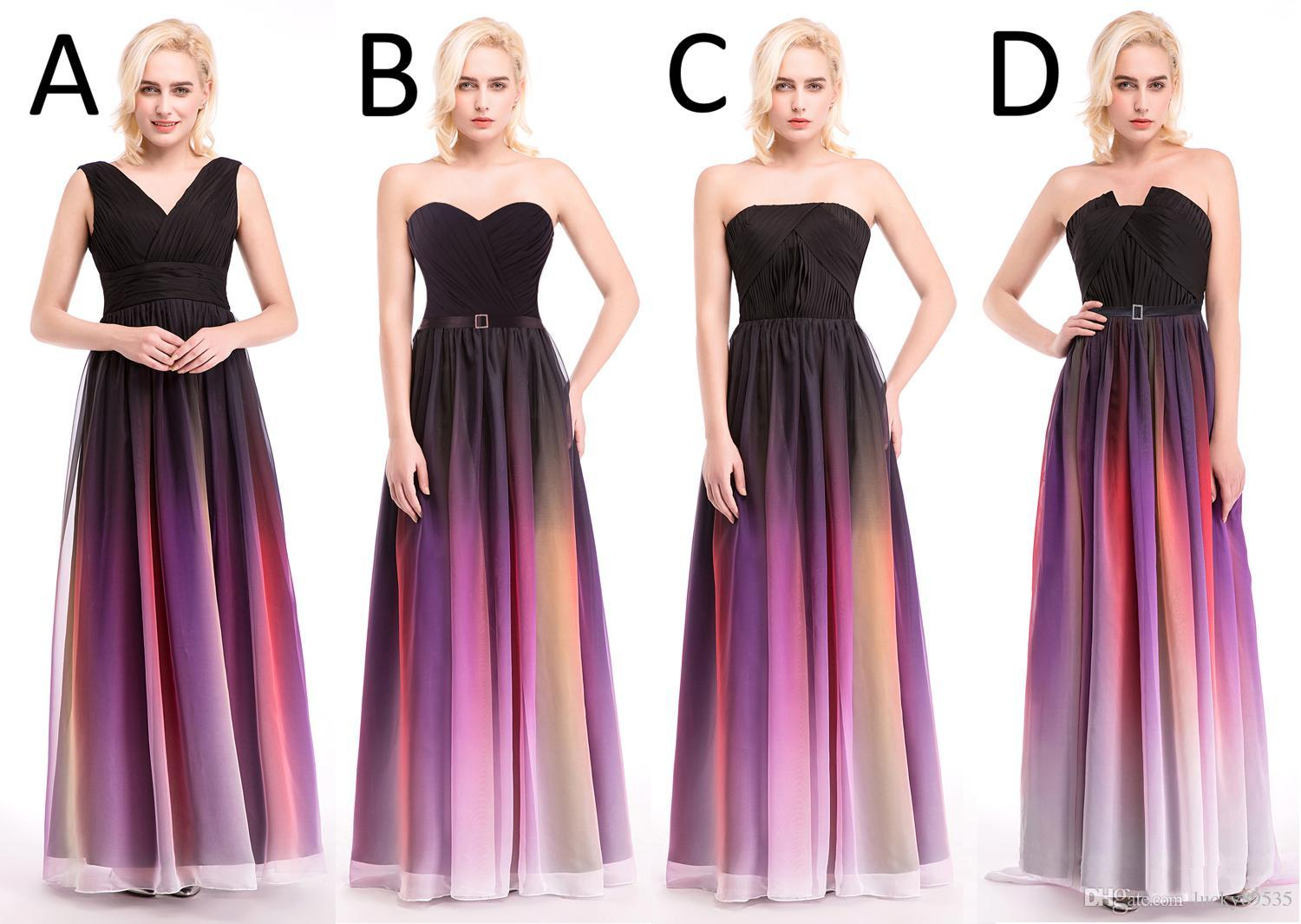 Hottest Elie Saab Ombre Strapless Prom Dresses New A Line ...