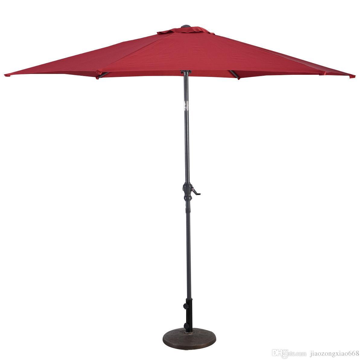 2018 6 Ribs Market Steel Tilt Outdoor Garden Patio Umbrella From