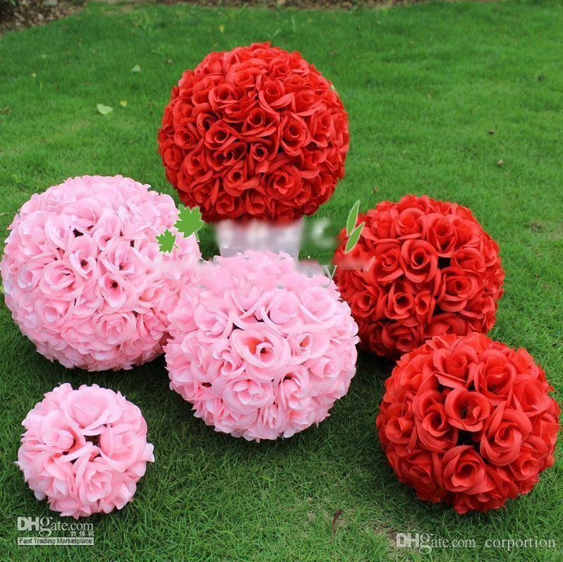 2019 White Red Pink Color 20cm 8 Inch Wedding Decorations Silk
