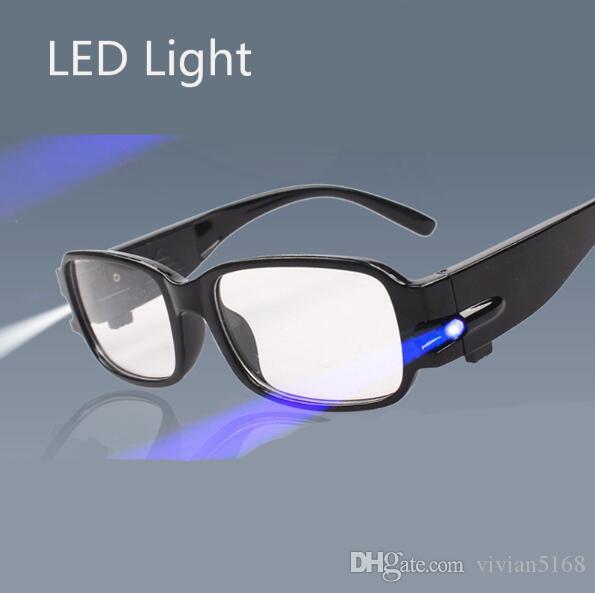 نظارات القراءة LED قوة متعددة النظارات النظارات الديوبتر المكبر تضيء +1.00 +1.50 +4.00 نظارات الديوبتر طول النظر