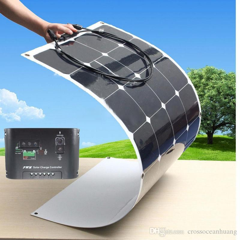 100w Flexible Solar Panel Charging For 12v Battery Custom