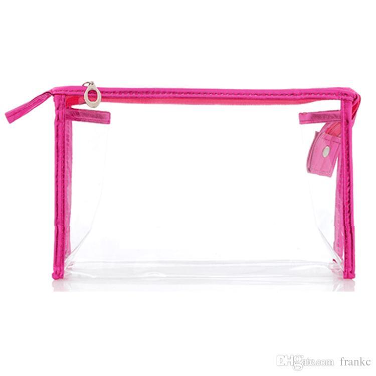 Hot Sale Wholesale Cheap Waterproof Make Up Bag Vinyl Clear Transparent PVC Cosmetic Bag Daily Women Beauty Zipper Toiletry Bags