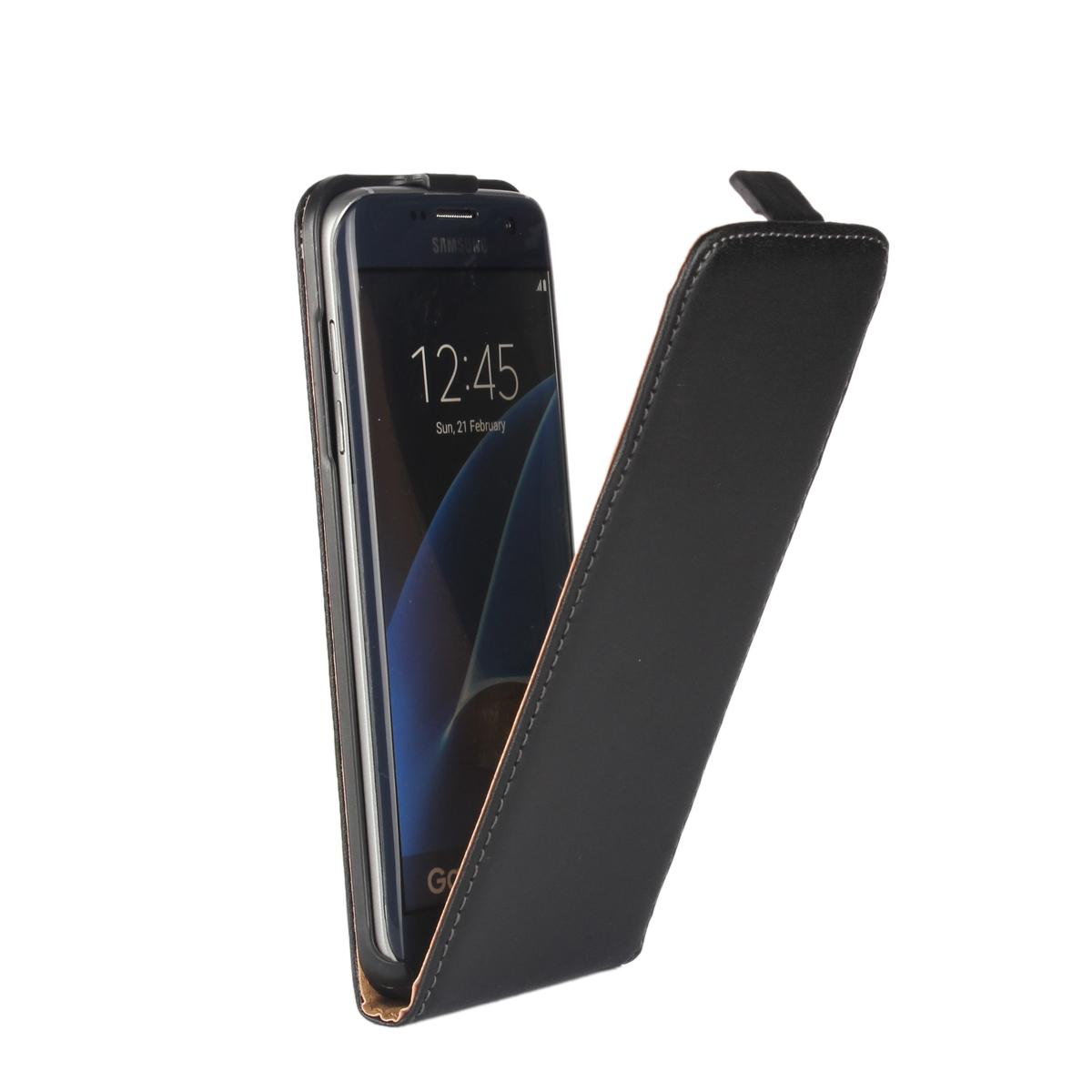 new product 47448 2c744 For S7 edge Magnetic Genuine Real Leather Vertical Up and Down Up&Dow Open  Flip Classical Pouch Holster Skin Cover For Samsung Galaxy S7