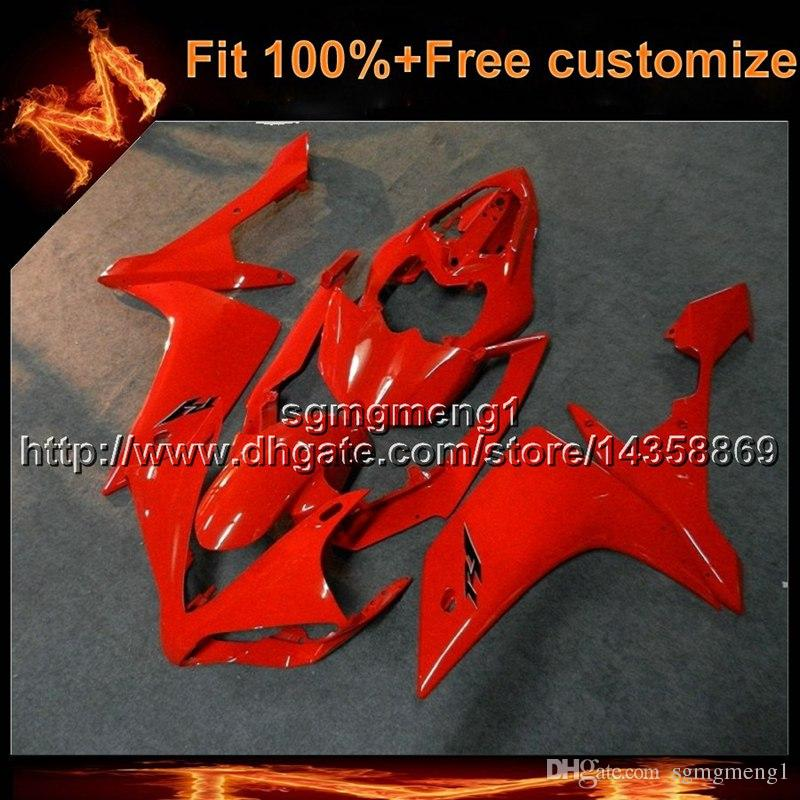 8gifts Aftermarket Injection Mold Red Motorcycle Cover For Yamaha